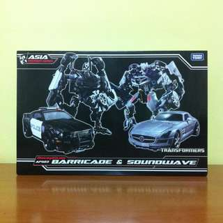 Transformer Human Alliance HA Shadow Sideswipe, Skids, Mudflap, Roadbuster, Barricade & Soundwave
