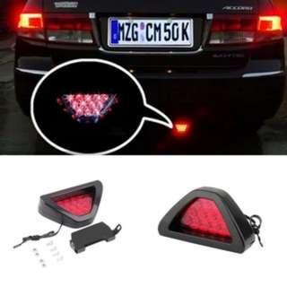 [PO555]Car Motorcycle Brake Tail Lamp Flashing Blink Triangle Light