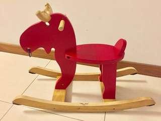 IKEA wooden rocking horse