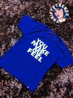 ROYAL BLUE STATEMENT TEE! NICE COLOR IN ACTUAL!