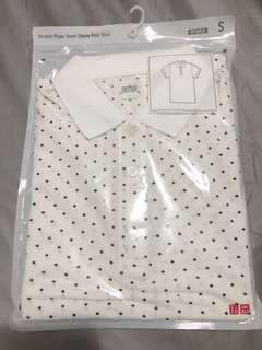 Brand New Auth Uniqlo Stretch Pique Short Sleeve Polo Shirt