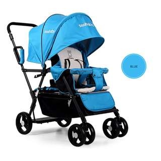 Seebaby double/twin stroller back to back T12