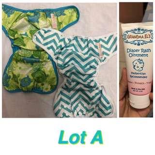 Cloth Diaper Cover + Grandma El's Diaper Rash Ointment