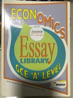 Econs 'A' Level Concepts & Sample Essays