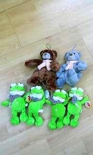 6 Plush Toys New