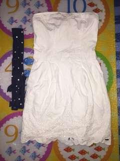 Tube/dress with blue ribbon belt