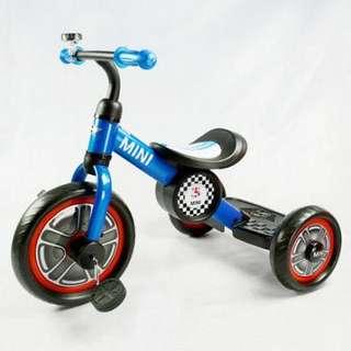 兒童單車 RASTAR MINI COOPER 寶馬迷你三輪車 藍色