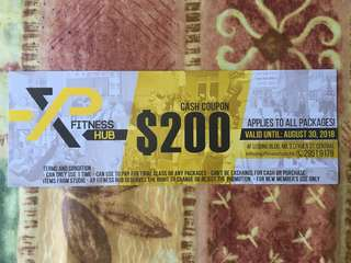 Fitness cash coupon $200