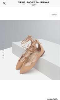 Zara pointy tie sandals