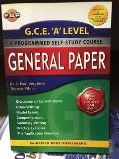 GP 'A' Level Practice Book