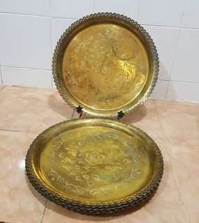 antique brass tray 10 Dulang Tembaga