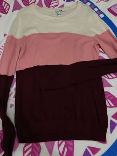 F21 Colorblock Sweater