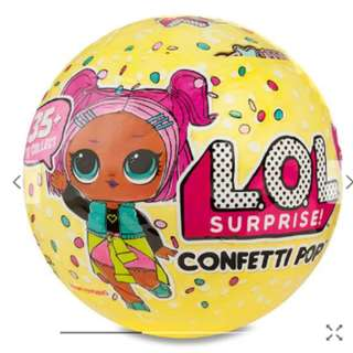 L.O.L Surprise! Confetti Pop S3 (NEW) Not avail in SIN Toy Stores.