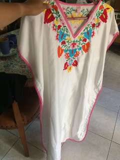 white flower kaftan