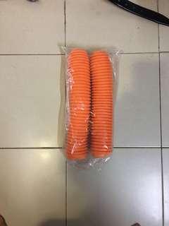 Fork boot for dirt- bike .orange