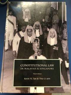 Constitutional Law in Malaysia and Singapore (3rd ed)