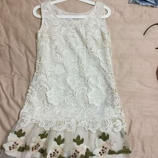 White Lace Dress from Italy