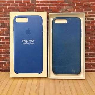 🚚 Apple 蘋果 原廠 iPhone 7 Plus 皮質 皮革 保護套 保護殼 手機殼 手機套 藍色