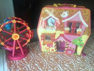 Zip up dollhouse with Ferris wheel