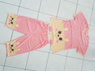 *free postage* cute cartoon Nursing Sleepwear set (top + bottom)