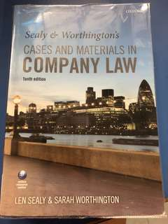 Sealy & Worthington's Cases and Materials in Company Law (10th ed)