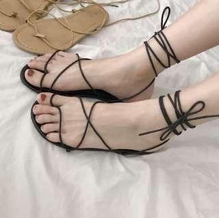 Lace Strap Sandals