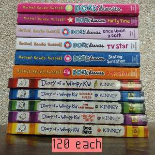 Dork Diaries and Diary of a wimpy kid Series