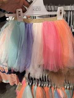 🌈Rainbow Tulle Skirt High Low