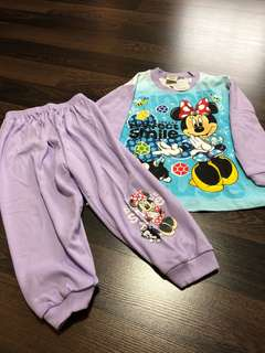 New with tag Minnie Mouse pajama for girls
