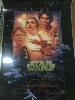 STAR WARS Special Edition Poster (Signed by poster artist and Laminted)