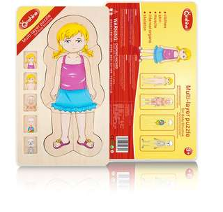Onshine Multi-layer Puzzle Girl Body Parts