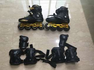 Inline Skates with Protective Gears
