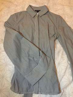 Topshop long balloon sleeve shirt