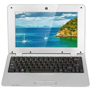 ANDROID 4.4 NETBOOK WITH 10.1 INCH WSVGA WM8880 DUAL CORE 1.5GHZ 512MB 4GB WIFI CAMERA (SILVER)