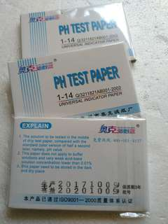 PH Paper Test Strips