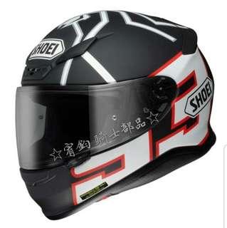 ☆宥鈞騎士部品☆SHOEI Z-7 MARQUEZBlack Ant 全罩安全帽 日本進口正品 內襯全可拆洗 買就送手套