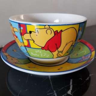 Winnie the Pooh 飯碗+碟套裝