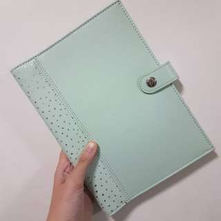 KikkiK A5 Leather Notebook Cover - Mint