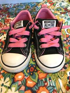 Converse pink lace sneakers