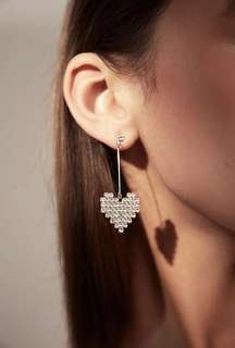 Heart/ Love ❤️ shaped Diamond Drop Earrings