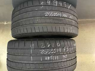255/35/19 pss michelin 2pc used tyre 1pc$80