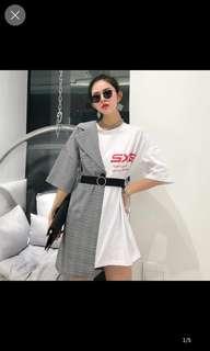 Tara half blazer shirt dress