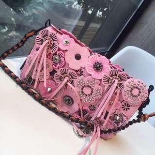 COACH 1941 系列86845粉色花朵包