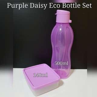 Authentic Tupperware Purple Daisy Eco Bottle Set Retail Price $14.90 Now $12.50 purple Tupperware