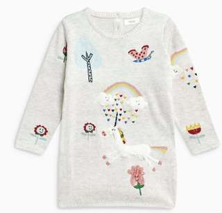 Next Uk baby jumper dress