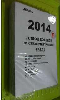 JC 2014 H2 Chemistry Prelims Part I (8 Schools)