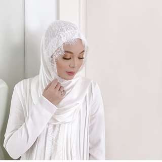 Duckscarves Ramadhan Collection Satin Lace