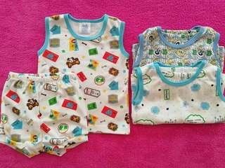 Sando diaper short Size 0-6Month expand up to 9M  100% cotton  3 terno set for 360.00
