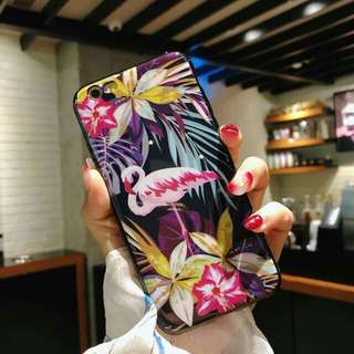 FLAMINGO FLORAL (IMD RUBBER CASE)