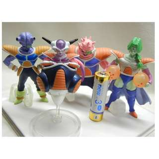 Gashapon figure freeza and subordinates Dragon Ball Z  very Rare